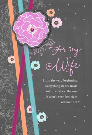My Heart Told Me Anniversary Card for Wife