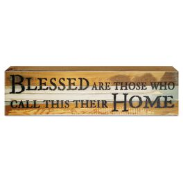 Blessed Are Those Who Call This Home Wood Sign, , large