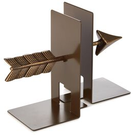 Natural Metal Arrow Bookends, Set of 2, , large