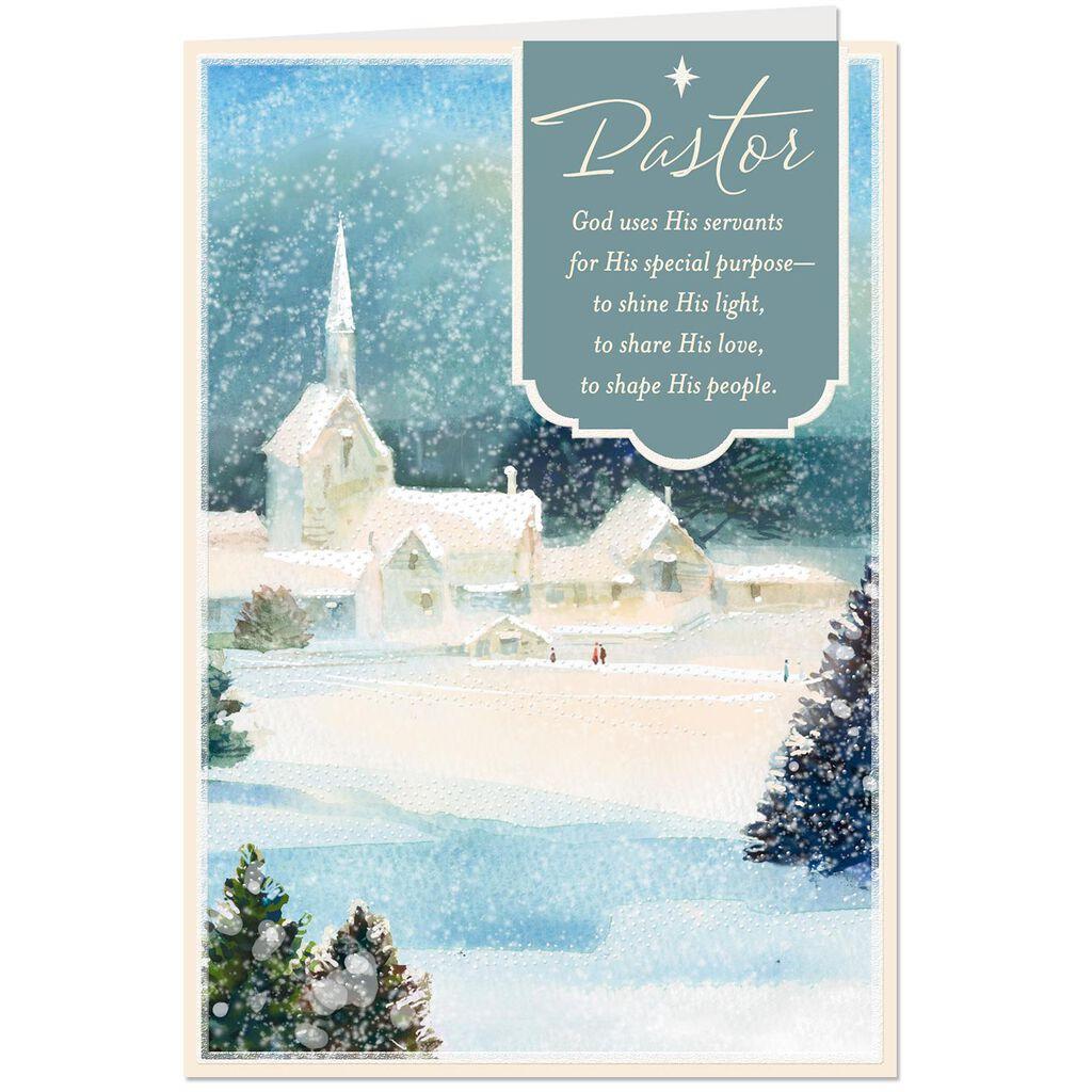 Religious Christmas.God Shines His Light Religious Christmas Card For Pastor