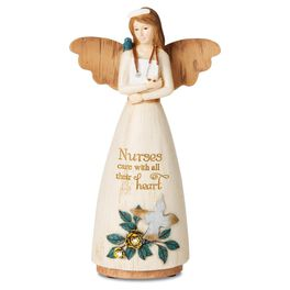 Nurses Care With All Their Heart Angel Figurine, , large