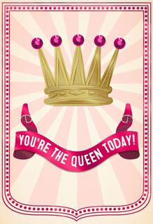 Queen for a Day Funny Mother's Day Card,