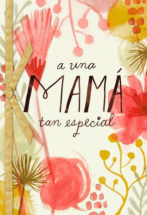 Mixed Flowers Spanish-Language Mother's Day Card