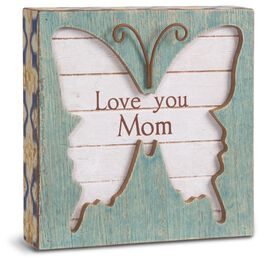 Mom Butterfly Plaque, , large