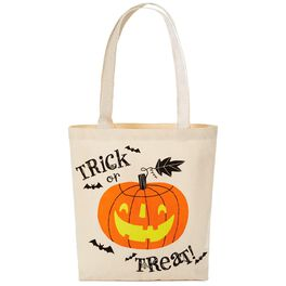 Halloween Trick-or-Treat Canvas Tote Bag, , large