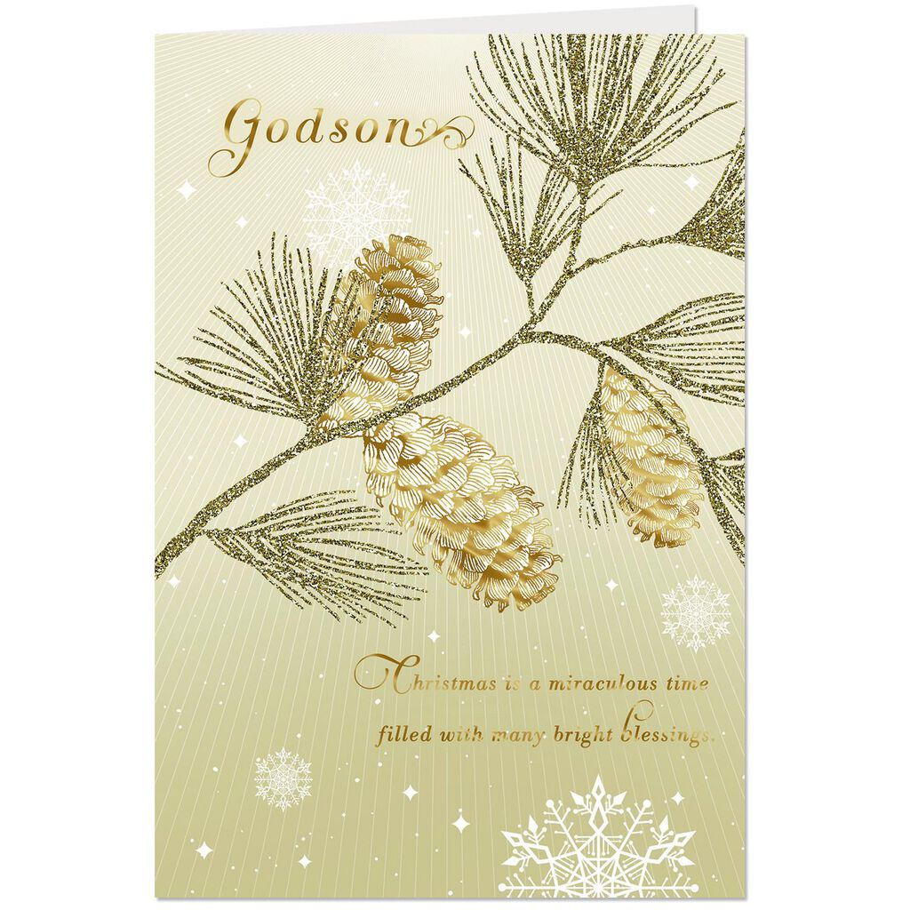 You\'re a Bright Blessing Christmas Card for Godson - Greeting Cards ...