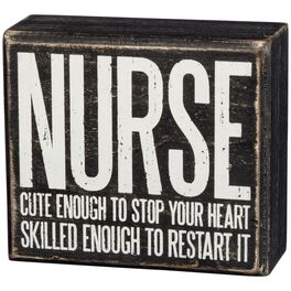 "Primitives by Kathy ""Nurse"" Wood Box Sign, , large"