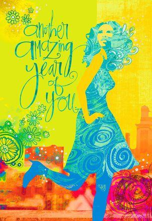 Amazing Year of You Woman Birthday Card