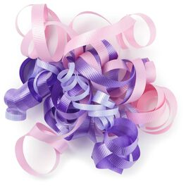 """Purple, Lavender and Pink Curly Ribbon Gift Bow, 6.5"""", , large"""