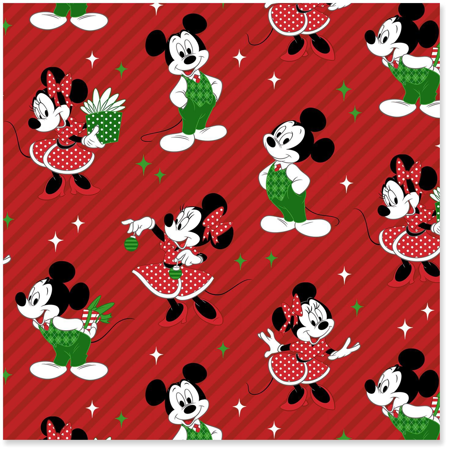 Disney Mickey and Minnie Jumbo Christmas Wrapping Paper Roll, 80 sq ...