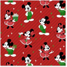 Disney Mickey And Minnie Jumbo Christmas Wrapping Paper