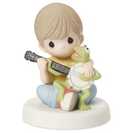 Precious Moments® Boy With Kermit the Frog Figurine, , large
