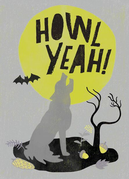 Howl yeah funny halloween card greeting cards hallmark howl yeah funny halloween card m4hsunfo