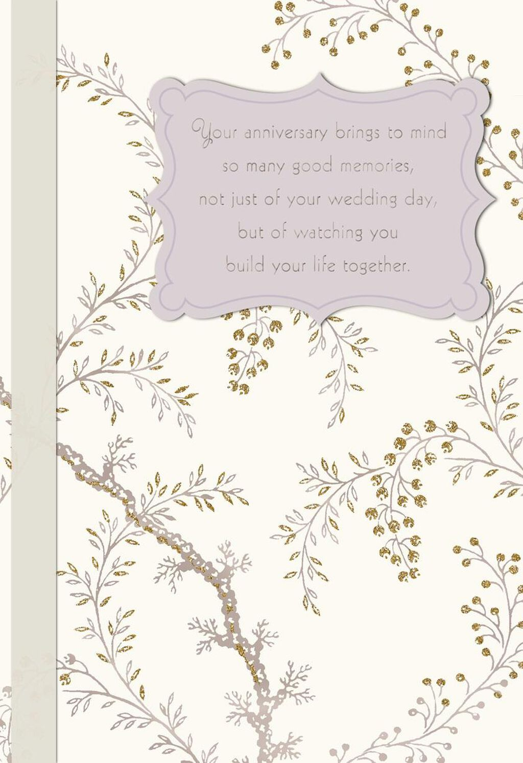 Flowering Branches Anniversary Card For Son And Daughter In Law