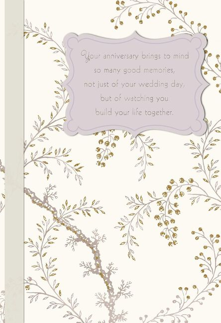 Flowering branches anniversary card for son and daughter in law m4hsunfo