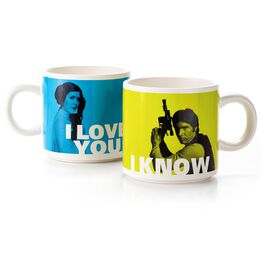 Han Solo™ and Princess Leia™ Stacking Mug Set, , large