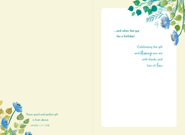 Youre A Gift Religious Birthday Card For Son In Law