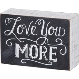 Primitives by Kathy Love You More Chalk Sign, , large