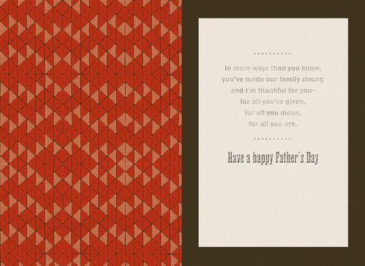 Legacy of Love Father's Day Card for Grandpa,