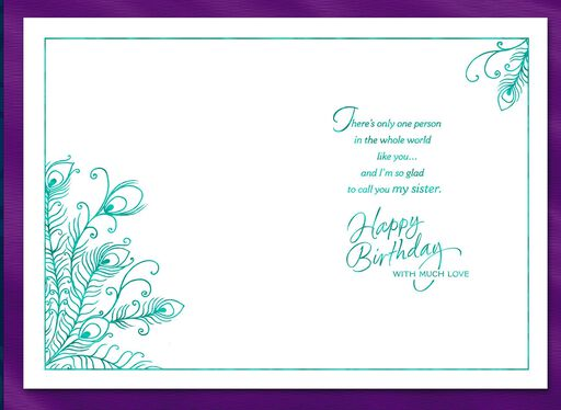 Beautiful and Strong Sister Birthday Card,