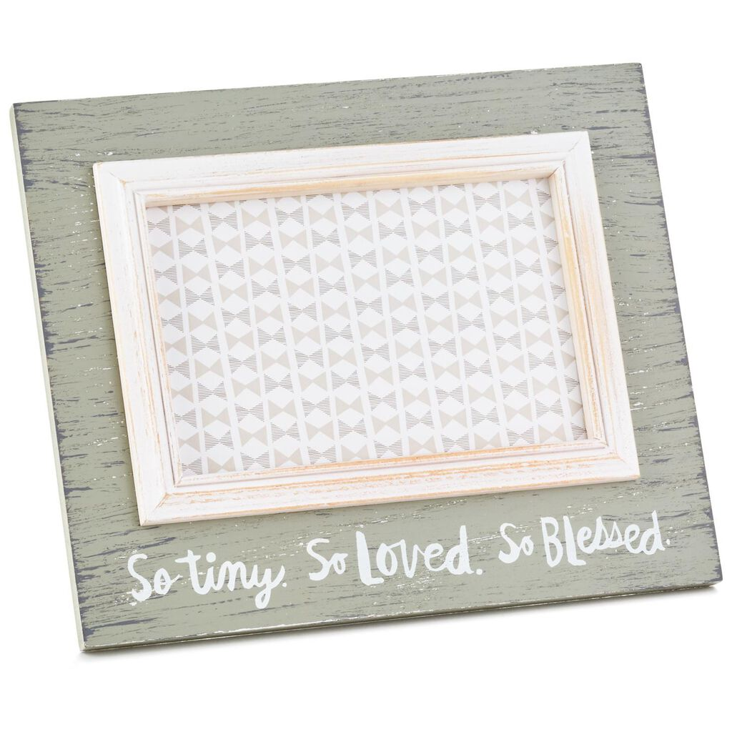 So Tiny, So Loved, So Blessed Picture Frame, 4x6 - Picture Frames ...