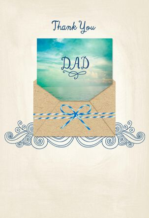 Ocean Beauty Father's Day Card With Removable Note From Daughter