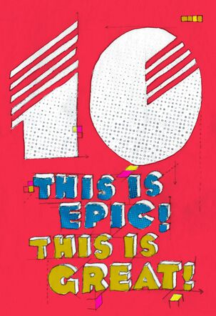 Epic 10th Birthday Card