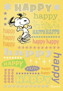 Snoopy Happy Birthday Card,