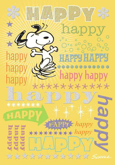 Snoopy Happy Birthday Card Greeting Cards Hallmark