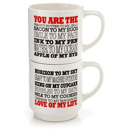 "Our Name is Mud ""Love of My Life"" 12 oz. Stacking Mugs, Set of 2, , large"