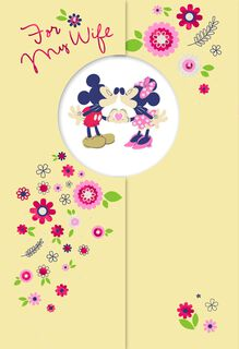Mickey Mouse and Minnie Mouse Mother's Day Card,