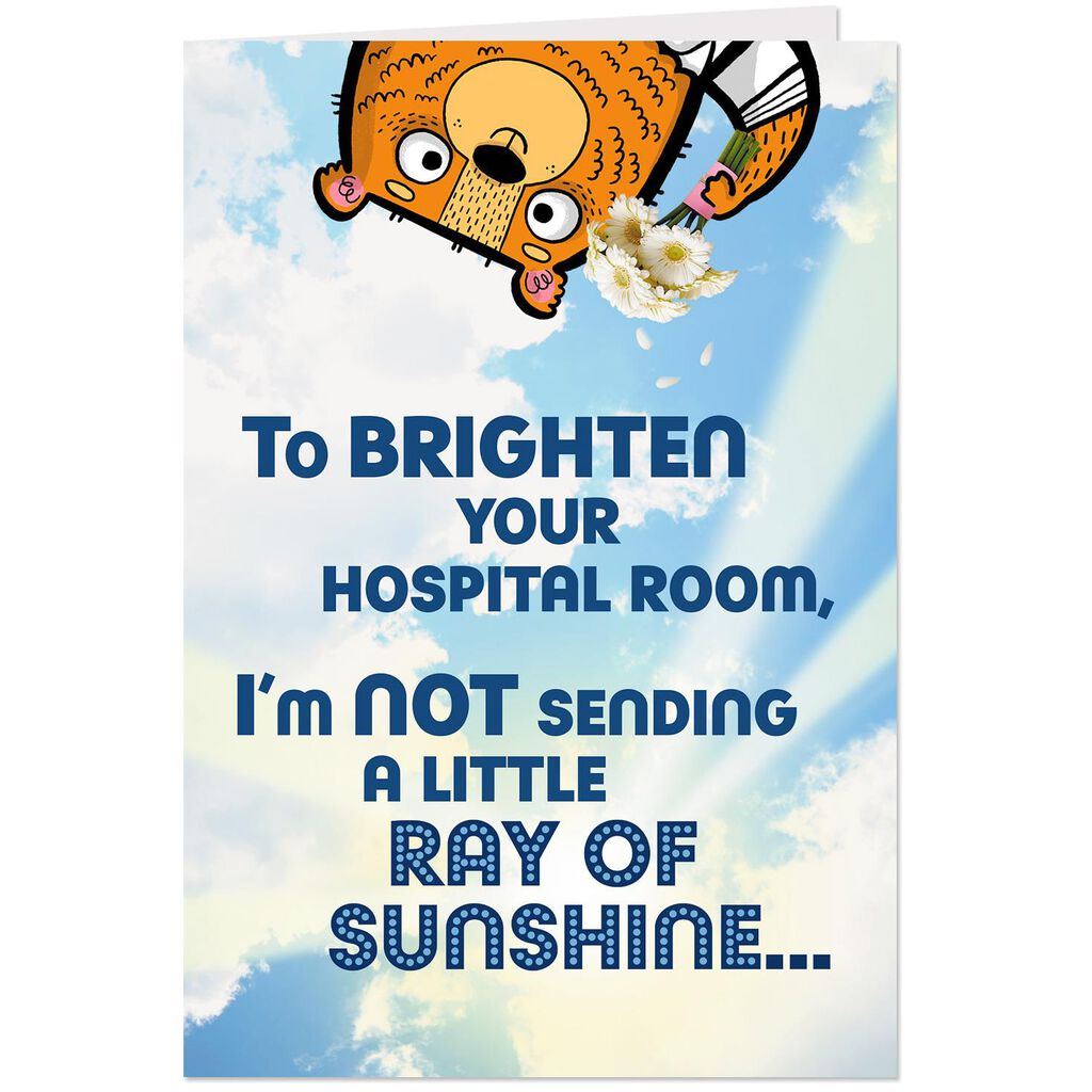 Brightening Your Hospital Room Funny Get Well Card Greeting Cards