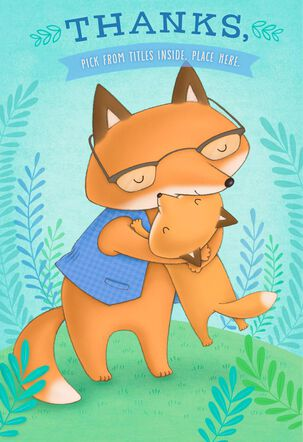 Illustrated Foxes Pick-a-Title Father's Day Card for Grandpa