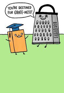 Cheesy and Funny Graduation Card,