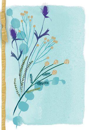 Watercolor Wheat Stalks Blank Sympathy Card