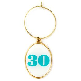 30th Birthday Wine Charm, , large