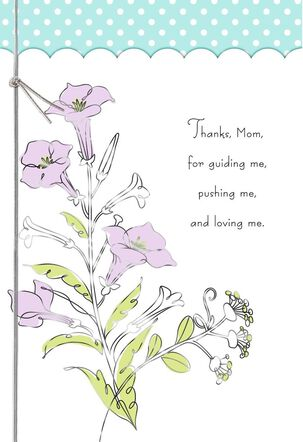 Thanks From a Loving Son Mother's Day Card