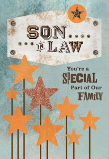 Vintage Stars Father's Day Card for Son-in-Law,