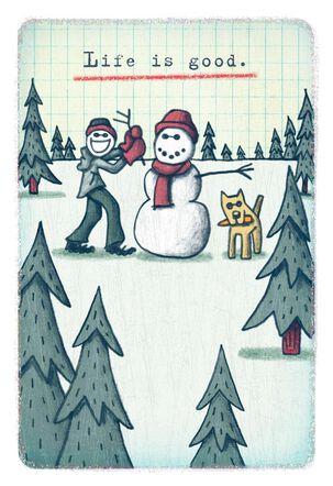 Life Is Snow Good Christmas Card