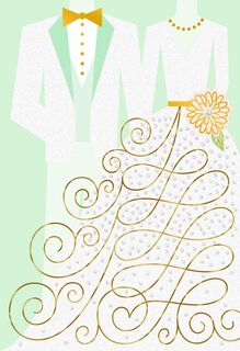 Tuxedo and Dress Wedding Card,