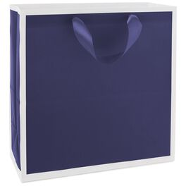 """Midnight Blue Large Square Gift Bag, 10.5"""", , large"""