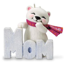 Polar Bear Mom Ornament, , large