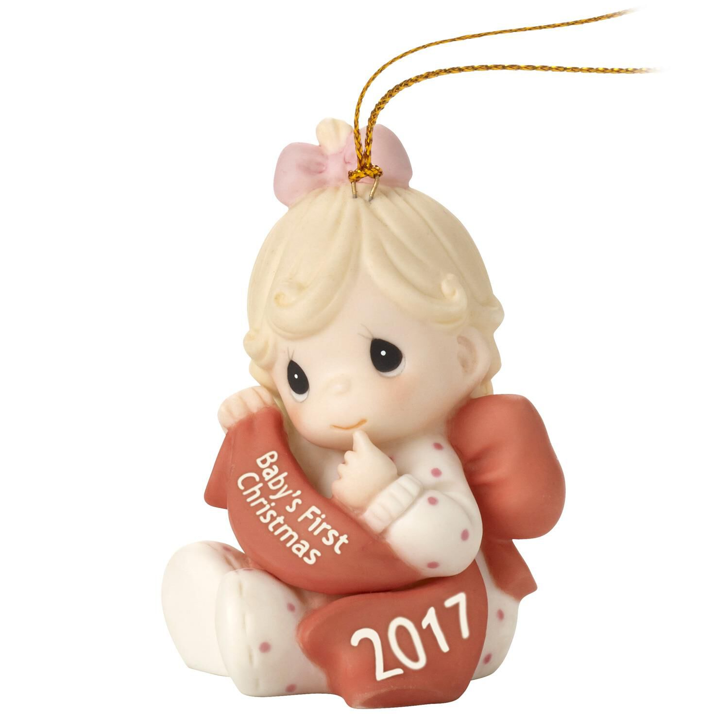 Precious Moments® Baby Girl First Christmas 2017 Ornament ...