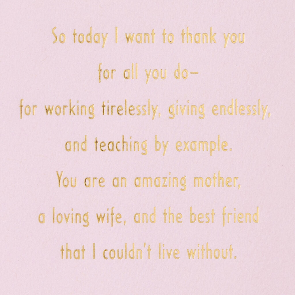 I Couldn't Live Without You Mother's Day Card for Wife