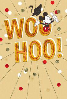 Mickey Mouse Woo Hoo! Graduation Card,