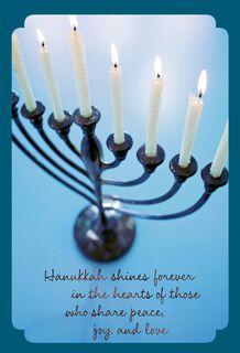 Light the Menorah Hanukkah Card, Pack of 6,