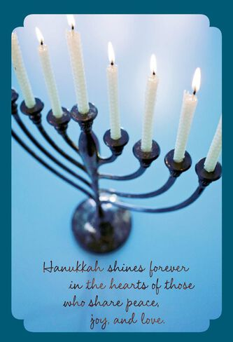 light the menorah hanukkah card pack of 6 boxed cards hallmark