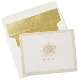 Embossed Flower Thank You Notes, Box of 10, , large