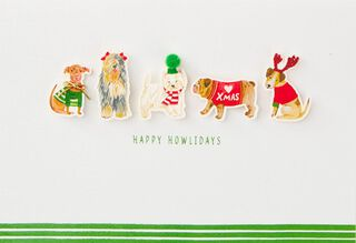 Happy Howlidays Christmas Card,