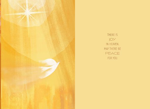 Dove and Light Religious Sympathy Card,
